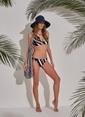 Morhipo Beach Geometrik Desenli Bikini Gri